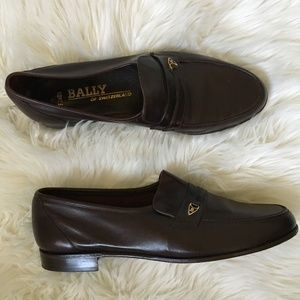 bally rondo leather loafers